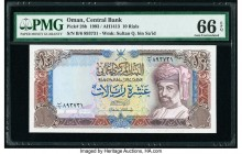 Oman Central Bank of Oman 10 Rials 1993 / AH1413 Pick 28b PMG Gem Uncirculated 66 EPQ.   HID09801242017  © 2020 Heritage Auctions | All Rights Reserve...