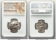 DANUBE REGION. Balkan Tribes. Imitating Alexander III the Great. Ca. 3rd-2nd centuries BC. AR tetradrachm (26mm, 16.70 gm, 11h). NGC VF 5/5 - 4/5. Cel...