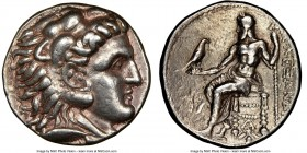 MACEDONIAN KINGDOM. Alexander III the Great (336-323 BC). AR tetradrachm (26mm, 17.02 gm, 3h). NGC XF 5/5 - 4/5. Late lifetime or early posthumous iss...