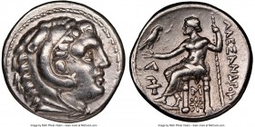 MACEDONIAN KINGDOM. Alexander III the Great (336-323 BC). AR tetradrachm (27mm, 9h). NGC XF. Posthumous issue of Amphipolis, 315-294 BC. Head of Herac...
