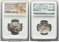 MACEDONIAN KINGDOM. Alexander III the Great (336-323 BC). AR tetradrachm (26mm, 17.11 gm, 12h). NGC Choice VF 4/5 - 3/5, light graffiti. Posthumous is...