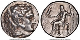 MACEDONIAN KINGDOM. Alexander III the Great (336-323 BC). AR tetradrachm (26mm, 1h). NGC Choice VF. Posthumous issue of Babylon, under Seleucus I Nica...
