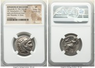 MACEDONIAN KINGDOM. Alexander III the Great (336-323 BC). AR tetradrachm (24mm, 17.11 gm, 1h). NGC VF 5/5 - 5/5. Posthumous issue of Miletus, ca. 323-...
