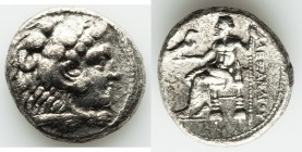 MACEDONIAN KINGDOM. Alexander III the Great (336-323 BC). AR tetradrachm (26mm, 16.16 gm, 2h). AU, porosity. Early posthumous issue of Tyre, by Laomed...