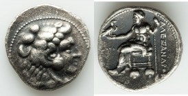 MACEDONIAN KINGDOM. Alexander III the Great (336-323 BC). AR tetradrachm (27mm, 16.78 gm, 11h). About XF. Posthumous issue of Tyre, dated Regnal Year ...