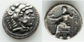 MACEDONIAN KINGDOM. Alexander III the Great (336-323 BC). AR tetradrachm (25mm, 16.59 gm, 12h). About XF, porosity. Early posthumous issue of Tyre, da...