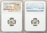 MACEDONIAN KINGDOM. Alexander III the Great (336-323 BC). AR drachm (17mm, 12h). NGC AU. Posthumous issue of 'Colophon', 310-301 BC. Head of Heracles ...