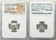 MACEDONIAN KINGDOM. Alexander III the Great (336-323 BC). AR drachm (18mm, 11h). NGC XF. Posthumous issue of Abydus, ca. 310-297 BC. Head of Heracles ...