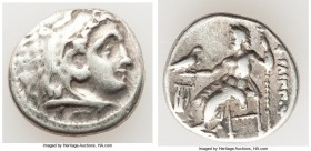 MACEDONIAN KINGDOM. Philip III Arrhidaeus (323-317 BC). AR drachm (17mm, 4.23 gm, 12h). Choice Fine. Colophon, ca. 323-319 BC. Head of Heracles right,...