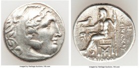 THRACIAN KINGDOM. Lysimachus (305-281 BC). AR drachm (18mm, 4.22 gm, 12h). VF. Lifetime issue of Magnesia ad Maeandrum, ca. 305-297 BC. Head of Heracl...