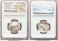 ATTICA. Athens. Ca. 455-440 BC. AR tetradrachm (25mm, 17.18 gm, 9h). NGC Choice VF 5/5 - 3/5, Full Crest. Early transitional issue. Head of Athena rig...