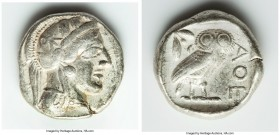 ATTICA. Athens. Ca. 440-404 BC. AR tetradrachm (25mm, 16.96 gm, 4h). VF. Mid-mass coinage issue. Head of Athena right, wearing crested Attic helmet or...