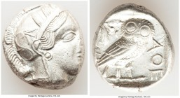 ATTICA. Athens. Ca. 440-404 BC. AR tetradrachm (24mm, 17.02 gm, 7h). Choice VF. Mid-mass coinage issue. Head of Athena right, wearing crested Attic he...