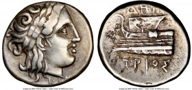 BITHYNIA. Cius. Ca. 350-300 BC. AR hemidrachm (13mm, 12h). NGC VF. Dmitrius, magistrate. KIA, laureate head of Apollo right / ΔHM/TPIOΣ, prow of galle...