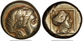 LESBOS. Mytilene. Ca. 377-326 BC. EL sixth-stater or hecte (10mm, 2.53 gm, 11h). NGC Choice XF 2/5 - 3/5. Laureate head of Apollo (Dionysus?) right / ...