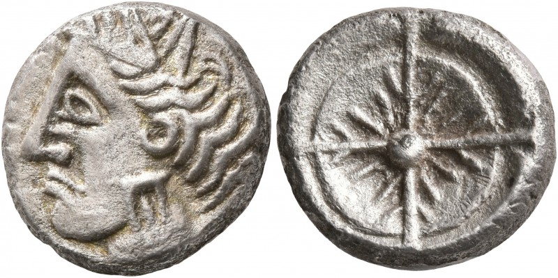 CELTIC, Southern Gaul. Uncertain tribe. Circa 2nd century BC. Drachm (Silver, 15...