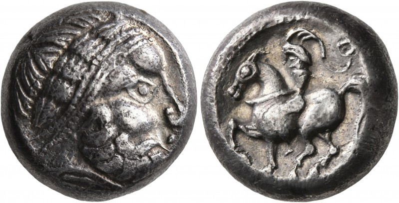 CELTIC, Middle Danube. Uncertain tribe. 2nd century BC. Tetradrachm (Silver, 18 ...