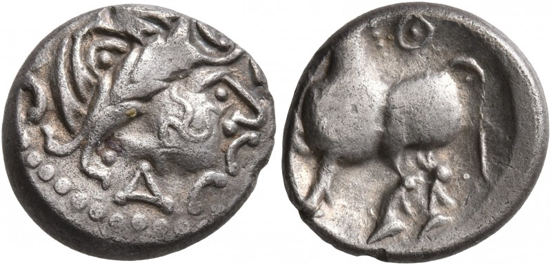 CELTIC, Middle Danube. Uncertain tribe. 2nd-1st centuries BC. Drachm (Silver, 14...