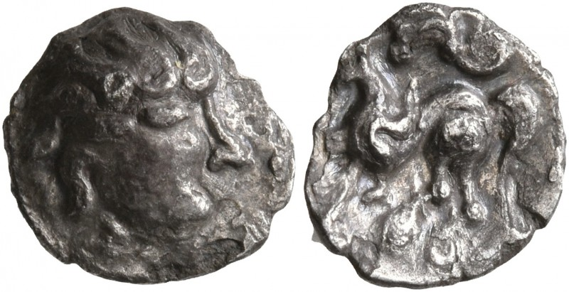 CELTIC, Middle Danube. Uncertain tribe. 2nd-1st centuries BC. Obol (Silver, 9 mm...