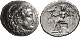 CELTIC, Lower Danube. Uncertain tribe. Circa 2nd century BC. Tetradrachm (Silver, 27 mm, 16.55 g, 7 h), imitating Philip III of Macedon. Head of Herak...
