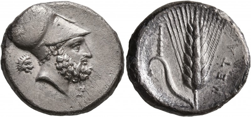 LUCANIA. Metapontion. Circa 340-330 BC. Didrachm or Nomos (Silver, 22 mm, 7.67 g...