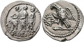 SKYTHIA. Geto-Dacians. Koson, mid 1st century BC. Drachm (Silver, 19 mm, 4.18 g, 11 h), Olbia. KOΣΩN Roman consul accompanied by two lictors advancing...