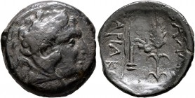 KINGS OF SKYTHIA. Sariakos, circa 180-168/7 BC. AE (Bronze, 25 mm, 9.35 g, 12 h). Head of Herakles to right, wearing lion skin headdress. Rev. ΒΑΣΙΛΕΩ...