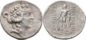 ISLANDS OFF THRACE, Thasos. Circa 168/7-148 BC. Tetradrachm (Silver, 33 mm, 17.18 g, 11 h). Head of Dionysos to right, wearing ivy wreath and taenia. ...