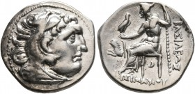 KINGS OF THRACE. Lysimachos, 305-281 BC. Drachm (Silver, 18 mm, 4.10 g, 1 h), in the types of Alexander III, Kolophon, circa 299/8-297/6 BC. Head of H...