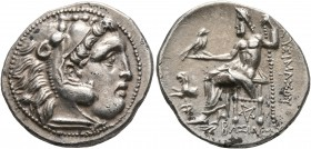 KINGS OF THRACE. Lysimachos, 305-281 BC. Drachm (Silver, 19 mm, 4.33 g, 12 h), in the types of Alexander III, Kolophon, circa 299/8-297/6 BC. Head of ...