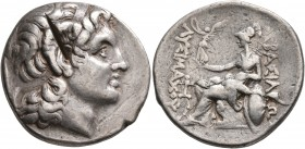 KINGS OF THRACE. Lysimachos, 305-281 BC. Tetradrachm (Silver, 28 mm, 17.06 g, 12 h), Ainos, circa 280-250. Diademed head of Alexander the Great to rig...