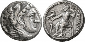KINGS OF MACEDON. Alexander III 'the Great', 336-323 BC. Tetradrachm (Silver, 24 mm, 16.00 g, 1 h), 'Amphipolis', struck under Antipater, circa 325-32...