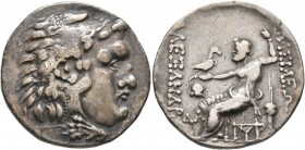 KINGS OF MACEDON. Alexander III 'the Great', 336-323 BC. Tetradrachm (Silver, 29 mm, 16.26 g, 1 h), Mesembria, circa 150-125. Head of Herakles to righ...