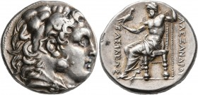 KINGS OF MACEDON. Alexander III 'the Great', 336-323 BC. Tetradrachm (Silver, 25 mm, 17.00 g, 12 h), uncertain mint in Thrace (?), circa 275/50-225 BC...