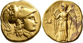 KINGS OF MACEDON. Alexander III 'the Great', 336-323 BC. Stater (Gold, 19 mm, 8.52 g, 12 h), Lampsakos, struck under Kalas or Demarchos, circa 328/5-3...