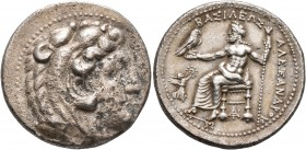 KINGS OF MACEDON. Alexander III 'the Great', 336-323 BC. Tetradrachm (Silver, 28 mm, 16.61 g, 5 h), Tarsos, struck under Philotas or Philoxenos, 323-3...