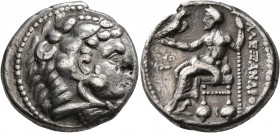 KINGS OF MACEDON. Alexander III 'the Great', 336-323 BC. Tetradrachm (Silver, 25 mm, 16.87 g, 1 h), Tyre, struck under Laomedon. RY 26 of 'Ozmilk, Kin...