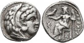 KINGS OF MACEDON. Alexander III 'the Great', 336-323 BC. 'Hemidrachm' (Silver, 12 mm, 1.43 g, 1 h), a contemporary imitation, imitating Arados, ca. 32...