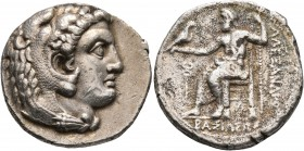 KINGS OF MACEDON. Alexander III 'the Great', 336-323 BC. Tetradrachm (Silver, 27 mm, 16.77 g, 8 h), Arados, struck under Menes or Laomedon, 324/3-320....