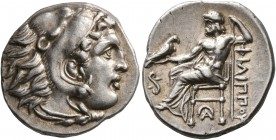KINGS OF MACEDON. Philip III Arrhidaios, 323-317 BC. Drachm (Silver, 19 mm, 4.28 g, 10 h), Lampsakos, struck under Leonnatos, Arrhidaios or Antigonos ...