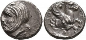 IONIA. Achaemenid Period. Spithridates, satrap of Lydia and Ionia, circa 334 BC. Tetrobol (Silver, 14 mm, 2.91 g, 12 h). Head of Spithridates to left,...