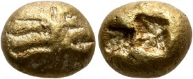 IONIA. Uncertain. Circa 600-550 BC. Trite (Electrum, 12 mm, 4.70 g), Lydo-Milesian standard. Uncertain design of horizontal lines radiating from verti...