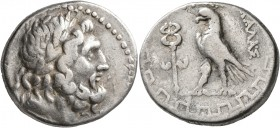 CARIA. Antioch ad Maeandrum. Circa 90/89-65/60 BC. Tetradrachm (Silver, 27 mm, 15.88 g, 1 h), Kalas, magistrate. Laureate head of Zeus to right. Rev. ...