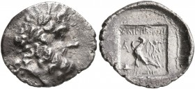 CARIA. Stratonikeia. Circa 125/10-89 BC. Hemidrachm (Silver, 14 mm, 1.23 g, 12 h), Chairemon, magistrate. Laureate head of Zeus to right. Rev. ΧΑΙΡΗΜΩ...