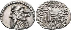 KINGS OF PARTHIA. Pakoros I, circa 78-120. Drachm (Silver, 21 mm, 3.74 g, 12 h), Ekbatana. Diademed and draped bust of Pakoros I to left. Rev. Archer ...