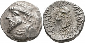 KINGS OF ELYMAIS. Kamnaskires V, circa 54/3-33/2 BC. Tetradrachm (Silver, 25 mm, 15.45 g, 1 h), Seleukeia on the Hedyphon. Diademed and draped bust of...