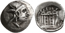KINGS OF PERSIS. Baydād (Bagadat), late 3rd or early 2nd century BC. Obol (Silver, 10 mm, 0.42 g, 6 h), Istakhr (Persepolis). Head of Baydād to right,...