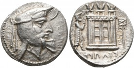 KINGS OF PERSIS. Oborzos (Vabharz), early-mid 2nd century BC. Drachm (Silver, 17 mm, 4.07 g, 4 h), Istakhr (Persepolis). Head of Vabharz with luxurian...
