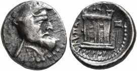 KINGS OF PERSIS. Oborzos (Vabharz), early-mid 2nd century BC. Obol (Silver, 9 mm, 0.62 g, 11 h), Istakhr (Persepolis). Head of Vabharz with luxuriant ...