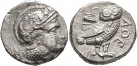 BAKTRIA, Local Issues. Circa 295/3-285/3 BC. Didrachm (Silver, 18 mm, 7.47 g, 6 h). Head of Athena to right, wearing crested Attic helmet decorated wi...